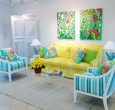 Lilly Pulitzer room. Must. Have.