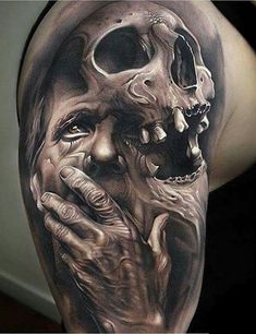 61 Best Stylish, Beautiful and Unique Tattoos for Men unique tattoos for men; unique tattoos for couples; unique tattoos for my son; unique tattoos for lost loved ones; unique tattoos for parents; unique tattoos for best friends Kunst Tattoos, Fake Tattoos, Skull Tattoos, Unique Tattoos, Body Art Tattoos, Tattoos For Guys, Cool Tattoos, Shaded Tattoos, Tattoo Pics