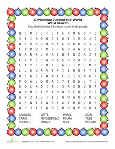 December NO PREP Packet (1st Grade) | Christmas Word Search, Word ...