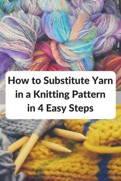 No, you don't have to use that super-pricey yarn for your next project! Learn how to substitute yarn in a knitting pattern and save a lot of money How often has this happened to you? You look at a free pattern in a magazine, a library book, or a website. The pattern looks appealing. You …