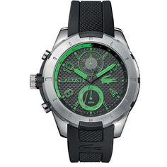 8b1433c3955306 Relógio Lacoste Masculino Borracha Preta - 2010828 Pre Owned Watches