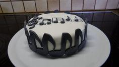 Happy Birthday Noten Kuchen Fondant