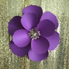 PDF Paper Flower Template with Base DIGITAL Version The