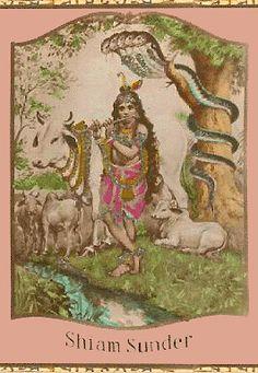 Gopala Shyamasundar  German Postcard, c. 1890 (via harekrsna.com)