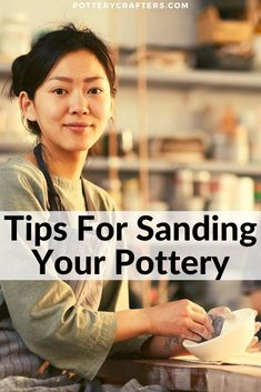 Tips For Sanding Your Pottery Sanding adds craftsmanship and value to your ceramics. But you need to make sure to always wear a respirator or dust mask when sanding ceramics. Here are some more tips for sanding your pottery. Pottery Lessons, Pottery Classes, Pottery Sculpture, Pottery Art, Pottery Clay, Pottery Tools, Slab Pottery, Ceramic Sculptures, Pottery Mugs