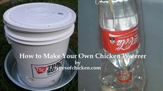 Keeping chickens means to have proper conditions to pet them and feed them. This article shows you How to Make Your Own Chicken Waterer!!!