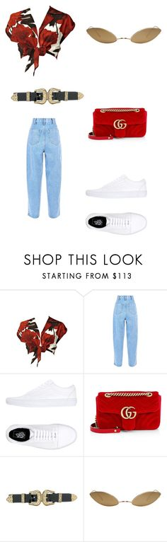 """""""Spent it on my outfit"""" by niyahobla on Polyvore featuring Alice + Olivia, Vans, Gucci, B-Low the Belt and Acne Studios"""