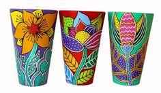 Colorful flower macetas