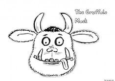 Free printable cut out masker Gruffalo coloring in mask for kids