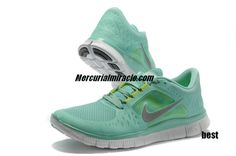 Womens Nike Free Running Shoes - Nike Free Run 3 5.0 Tropical Twist Reflect Silver Pure Platinum Volt - $50.76