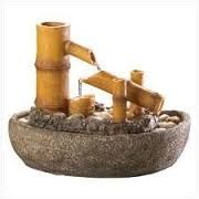 feng shui fountains for indoors and outdoors Indoor Water Garden, Indoor Water Fountains, Indoor Fountain, Garden Fountains, Bamboo Water Fountain, Waterfall Fountain, Bamboo Art, Bamboo Crafts, Waterfall Features