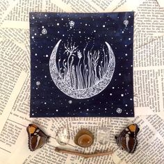 Hey, I found this really awesome Etsy listing at https://www.etsy.com/listing/69499250/original-painting-voyage-of-a-crescent