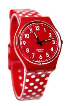 Swatch Women's Originals GR154K Red Plastic Quartz Watch with Red Dial Swatch. $48.99. Band Color: Red White. Brand:SWATCH. Model: GR154K. In Stock:Yes. Immediate shipping. Condition:Brand new with Tags