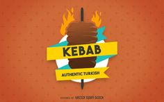 Kebab ilustración label