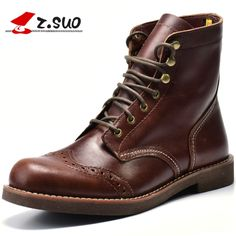 a653e14af7a8e Cheap british fashion, Buy Quality british men directly from China spring  fashion Suppliers  Z.Suo Fashion Spring Autumn men shoes Genuine Leather  boots ...