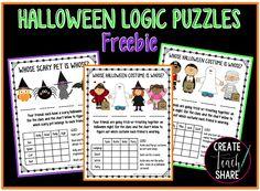 Halloween Logic Puzzles FREEBIE!