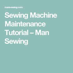 Most sewing machine problems can be traced to poor general maintenance or neglect. Learn how to keep your machine in tiptop shape with only a few simple supplies and a few minutes of attention daily, weekly, or monthly— depending on how much you sew. Quilting Tutorials, Sewing Tutorials, Sewing Projects, Sewing Ideas, Sewing Basics, Sewing Hacks, Sewing Machine Repair, Sewing Machines, Disappearing Nine Patch