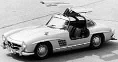 """Nueva York 1954: Mercedes 300 SL """"Alas de gaviota"""""""