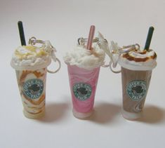 Scented or Unscented Frappuccino Miniature Food Necklace Pendant - Miniature Food Jewelry