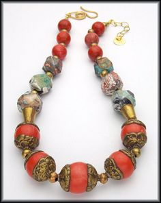 KILIMANJARO Handmade Tibetan Coral by sandrawebsterjewelry, $188.00