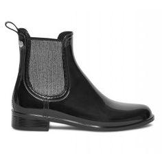 Chelsea boots de pluie IGOR noir et argent