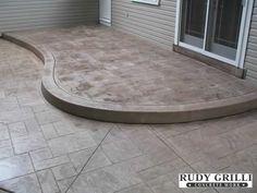 Rudy Grilli Concrete Work - Stamped Decorative Concrete Raised Patios
