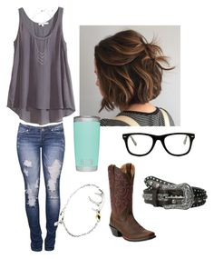 """""""I'm one number away from callin' you❤︎"""" by johndeerebabe on Polyvore featuring Muse, Ariat, Elizabeth and James and Calypso St. Barth"""