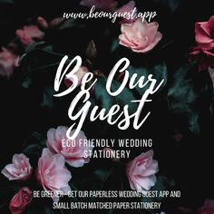 Be Our Guest is a digital solution for the wedding guest experience. Invites, photo sharing, games, wedding planning and much more! Stationery Paper, Wedding Stationery, Wedding Invitations, Wedding Events, Our Wedding, Pastel Artwork, Sustainable Wedding, Originals, Eco Friendly