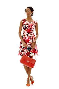 trend: floral; liz claiborne fit and flare floral dress