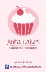 tarjetas anita's cakes