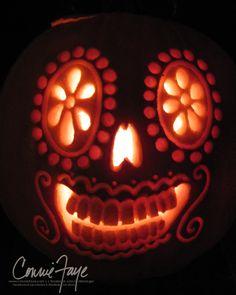 Dia de los Muertos Pumpkin by *ConnieFaye on deviantART
