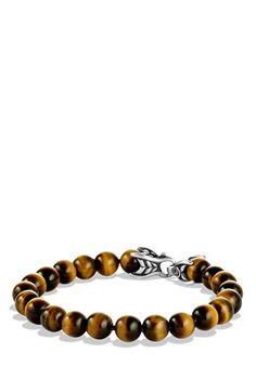 Men's David Yurman 'Spiritual Beads' Bracelet - Tiger Eye
