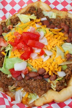 Fry Bread Tacos Recipe. This looks unhealthy but super yummy