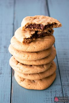 Nutella Stuffed Peanut Butter Cookies