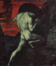 Sísifo en el Averno, por Franz von Stuck.