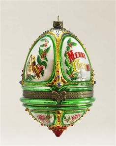 Musical Egg Blown Glass Ornament