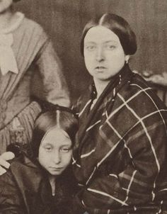 A very young Queen Victoria (right) with her second eldest daughter, Princess Alice (left) (1840s-50s)