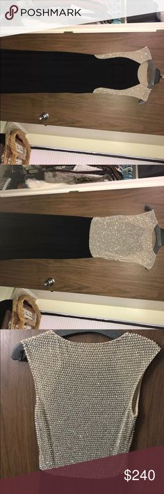 Black formal dress Long black formal dress, worn once to a marine ball in perfect condition Size 1-2 Dresses Prom
