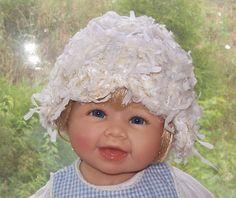 Newborn Hat Crochet Bonnet Baby Photo Prop Baby by dreamfancies, $16.00