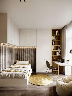 Home Room Design, Kids Room Design, Bed Design, Home Interior Design, Small Room Bedroom, Modern Bedroom, Apartment Interior, Room Interior, Teenage Room