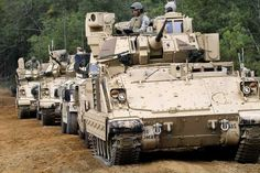 A platoon of Bradleys Bradley Fighting Vehicle, Armored Fighting Vehicle, Army Vehicles, Armored Vehicles, Military Photos, Military History, Armored Truck, Military Equipment, Military Weapons