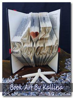 Δώρο ♥ Μονογράμματα ♥ Καρδιά ♥ Letters ♥ Book Folding ♥ Book Art ♥ Book Art By Kallitsa ♥ Δώρο επετείου ♥ Δώρο για επέτειο γάμου ή σχέσης ♥ Σ'αγαπώ #bookartbykallitsa #bookfolding #βιβλίο #ιδέες #δώρα #bookart #iloveyou #anniversarygift #valentinesgift