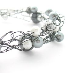 Cool crochet wire necklace