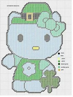ST. PATRICK'S DAY HELLO KITTY by SUNSHINE DESIGNS