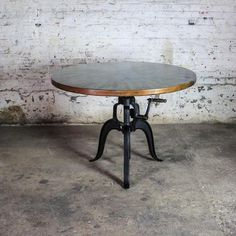 Engineer crank copper dining table Dining Room Furniture, Dining Chairs, Outdoor Furniture, Copper Table, Beautiful Dining Rooms, Decorating Blogs, Dining Area, A Table, Home Furnishings