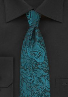 Floral Paisley Tie in Peacock