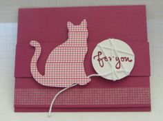 A Stampin' Up! Scrapbooking, Scrapbook Cards, Pet Sympathy Cards, Dog Cards, Stamping Up Cards, Christmas Cards To Make, Animal Cards, Cards For Friends, Fall Cards
