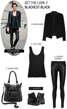 Get the Look: Black:'tout noir
