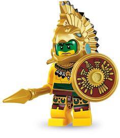 Lego Aztec Warrior Minifigure, Series 7 (2012)