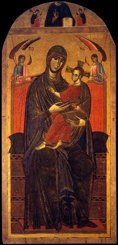 "centuriespast: ""  UNKNOWN MASTER, Italian Madonna del Popolo c. 1260 Wood Brancacci Chapel, Santa Maria del Carmine, Florence """
